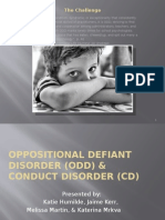 behaviour disorders - odd and cd presentation
