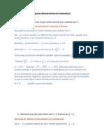 Algunas Demostraciones en Matemáticas