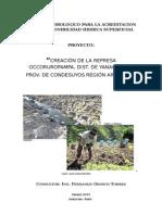 Creación de La Represa Occoruropampa, Dist. de Yanaquihua, Prov. de Condesuyos Región Arequipa