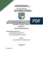 Sistema de interacción y comunicación para el mejoramiento de la educación