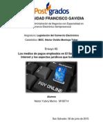 Los medios de pagos empleados en El Salvador por Internet y los aspectos jurídicos que los rodean