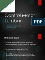 Control Motor Lumbar