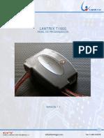 T1800 Panel de Programacion