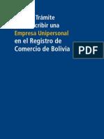 Inscripcion Comerciante Individual o Empresa Unipersonal