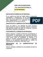 Tema Gerencia de Personal -2012