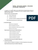 Requisitos de Afiliacion