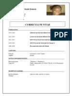 CV Ouédraogo Rimbé Gisèle Dolorès