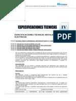 Especif. Tecnicas-Instalaciones Electricas