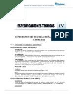 Especif. Tecnicas-Instalaciones Sanitarias