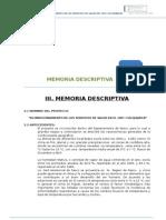 Memoria Descriptiva - Colquijirca