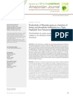 Productivity of Marandu grass as a function of liming and phosphate fertilization in a Typic Hapludult from Amazonia