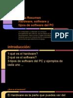 Tarea Resumen Hardware, software y tipos de software del PC