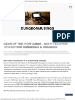 GEAR of the IRON GODS! – Sci-Fi Tech for 5th Edition Dungeons & Dragons _ Du