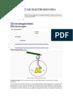 Definicion de Electroescopio