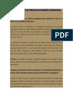 El Sistema Fiscal o de Tributos de La República Dominicana