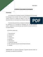 Propuesta Petitorio Universidad de Antofagasta 10-7-15