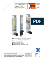 KDF-KDG Variable Area Flow Meter