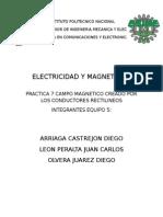 Campo Magnetico Creado Por Los Conductores Rectilineos