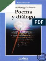 Poema y Diálogo - Gadamer
