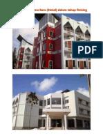 Gedung Asrama Baru (Hotel) dalam tahap finising)