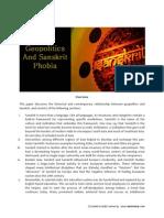 Geopolitics and Sanskrit Phobia by Dr Rajiv Malhotra