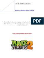 Plants vs Zombies  Code de Triche android ios