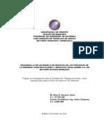 DESARROLLO DE UN MODELO DE NEGOCIO DE LOS PROCESOS DE LA EMPRESA CONSTRUCCIONES Y SERVICIOS CESIN GÓMEZ C.A. EN MATURÍN ESTADO MONAGAS