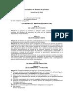 Ley Organica Ministerios de Agricultura Ley 25902