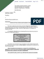 Cleary et al v. Fenton Truck Center, Inc. - Document No. 3