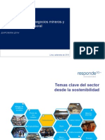 """""""Sostenibilidad de Negocios Mineros y Su Impacto Social y Laboral"""""""