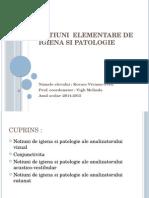 Notiuni Elementare de Igiena Si Patologie
