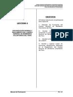 Leccion 4 Organizacion, Reglamentos y Normas Del Cgbvp