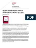 UH Cullen College of Engineering - SPE Publishes Fourth Petroleum Engineering Text by UH Professor - 2014-01-13