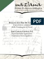 Ignaciana, Rivista Di Ricerca Teologica, 8-2009