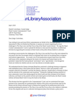 American Library Association Letter