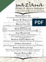 Ignaciana, Rivista Di Ricerca Teologica, 15-2013
