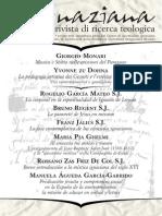 Ignaciana, Rivista Di Ricerca Teologica, 16-2013