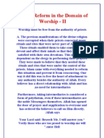 Islamic Reform in the Domain of Worship - II