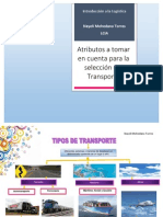 Atributos de los Tipos de Transporte