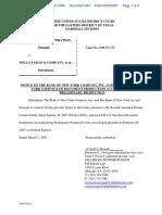 Datatreasury Corporation v. Wells Fargo & Company et al - Document No. 583