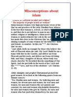 Some Misconceptions about islam