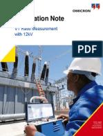ANCP0902 VT Ratio Measurement With 12kV