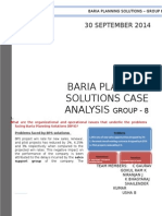 Baria Planning Case Solution
