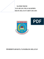Materi Teknis RTRW Kab. Tangerang Selatan