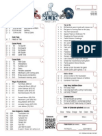 2015 Super Bowl XLIX 49 Prop Bet Sheet