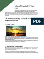16 Pariwisata Yang Menarik Di Pulau Sulawesi Selatan