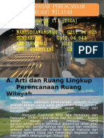 PPW (perencanaan pengembangan wilayah)