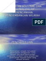 Pendekatan Sektoral Dan Regional Dalam Perencanaan Pengembangan