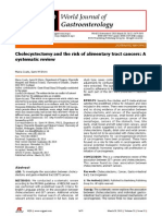 Cholecystectomy and the Risk of Alimentary Tract Cancers A