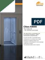 Cibes A9000 - Thang máy gia đình dạng cabin sang trọng